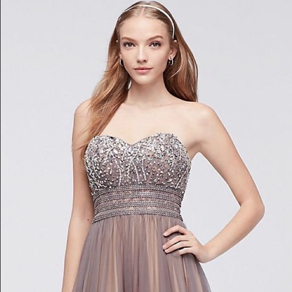 6e828a84145 Blondie Nites Dresses | Blondie Nights Strapless Ballgown | Poshmark